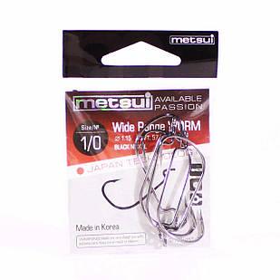 Крючок METSUI Wide Range Worm №1/0 офсетный (6 шт.)