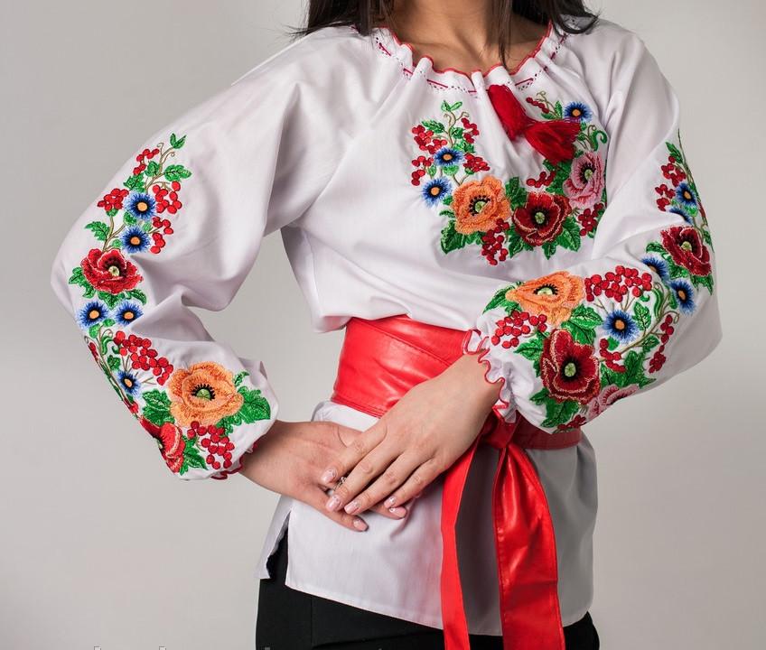 Купить вышиванку для девочки с длинным рукавом  Диана