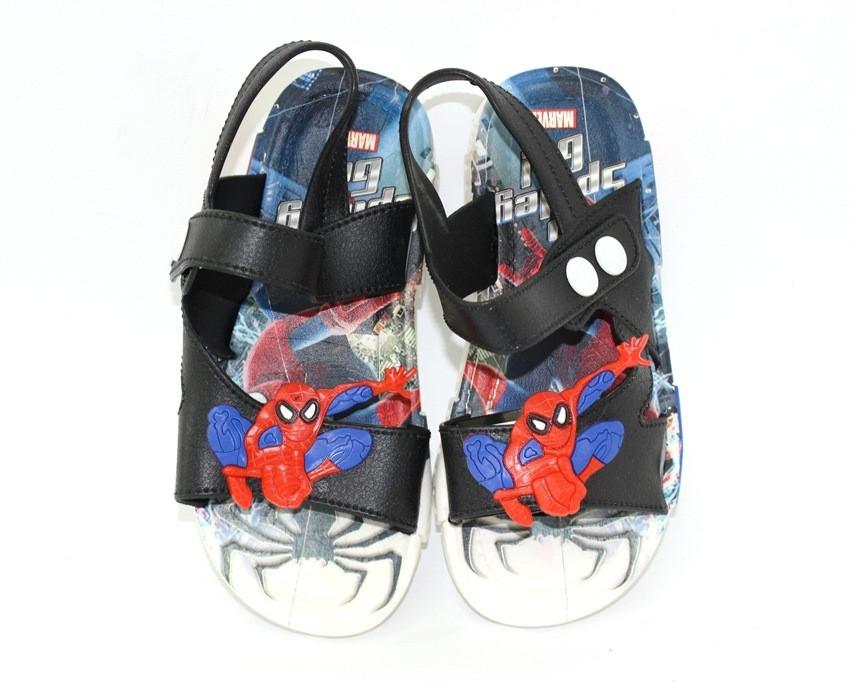 Резиновые детские сандалии человек паук