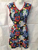 Халат платье летний с пояском Большого размера