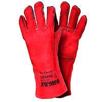 Перчатки краги сварщика красные Sigma 9449301
