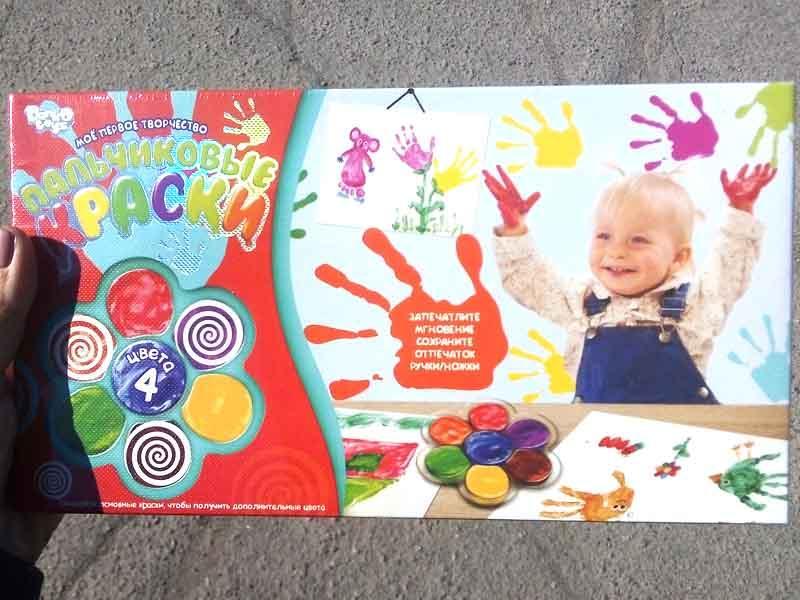 Пальчиковые краски 4цв DankoToys