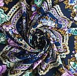 Домашний очаг 1829-14, павлопосадский платок шерстяной  с шелковой бахромой, фото 7