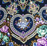 Домашний очаг 1829-14, павлопосадский платок шерстяной  с шелковой бахромой, фото 5