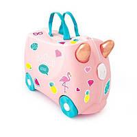 Чемодан на колесиках Фламинго Флосси TRU -0353+наклейки!, фото 1