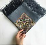 Горожанка 1836-1, павлопосадский платок шерстяной  с шелковой бахромой, фото 6