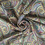 Горожанка 1836-1, павлопосадский платок шерстяной  с шелковой бахромой, фото 5