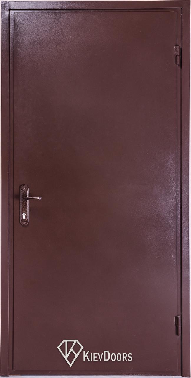 Двери Металл/ДСП, РАЛ 8017 снаружи, внутри ДСП 16 мм, коробка 60 мм, полотно 50