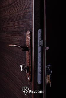 Двери Металл/ДСП, РАЛ 8017 снаружи, внутри ДСП 16 мм, коробка 60 мм, полотно 50, фото 2
