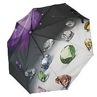 """Жіночий напівавтомат парасолька """"Calm Rain"""", модель """"Brilliant"""" на 9 спиць, фіолетовий,125-1"""
