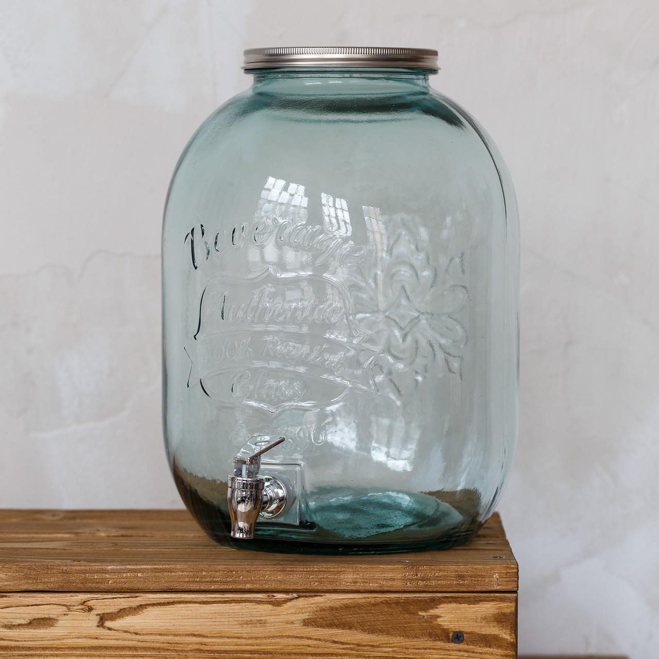 Лимонадник 12,5 L/ Банка с краником / Лимонадница / Диспенсер для напитков / Банка с краном