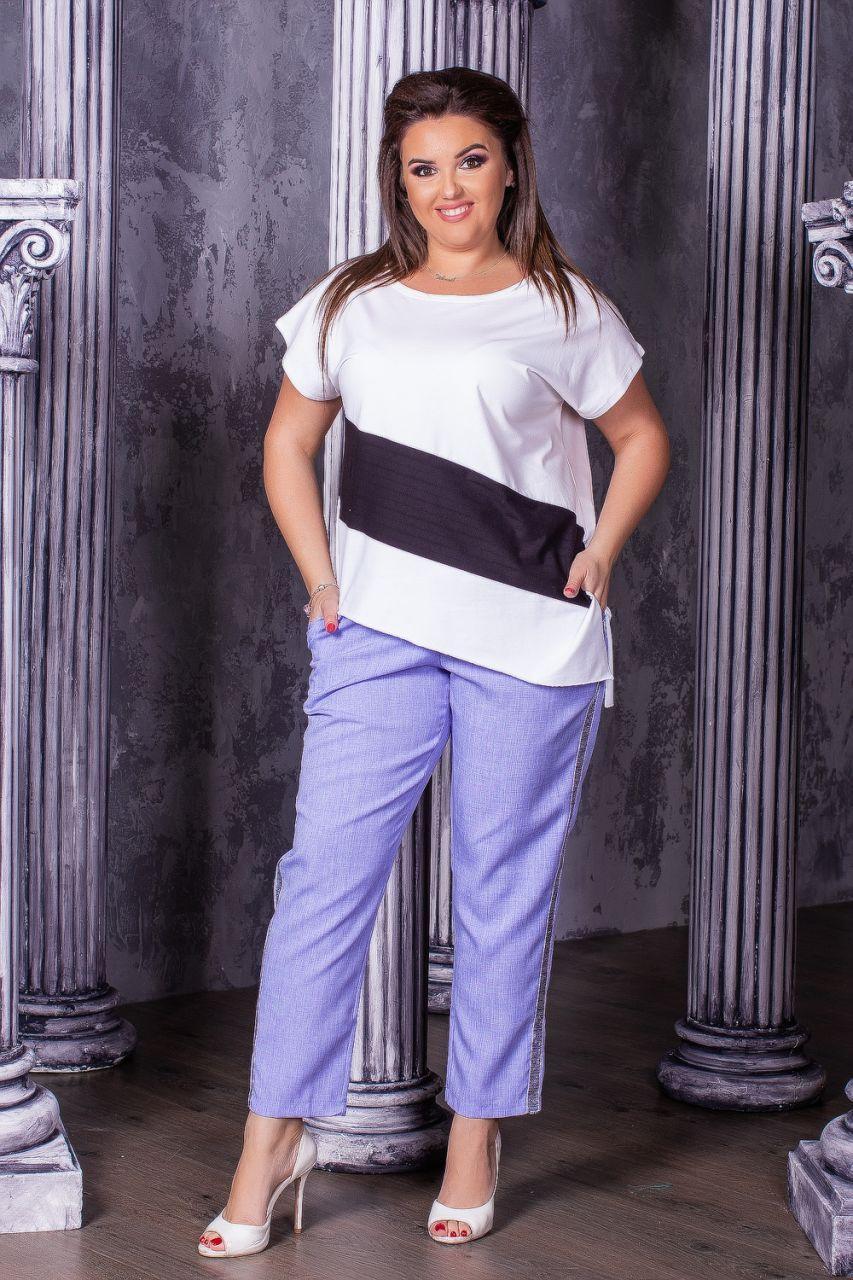 Женская модная футболка  НИ179 (бат)