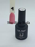 База для ногтей цветная UK.Nail Color Rubber Base № 1  8 мл.