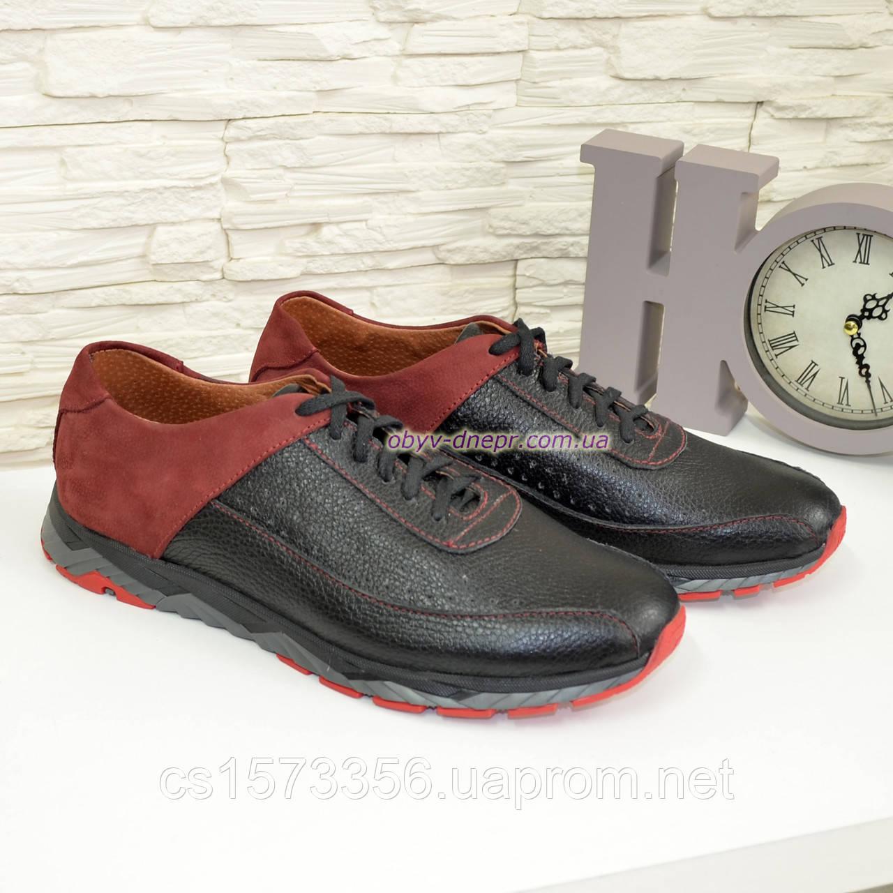 Кроссовки мужские кожаные на шнурках