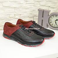 Кроссовки мужские кожаные на шнурках, фото 1