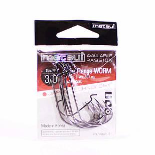 Крючок METSUI Wide Range Worm №3/0 офсетный (6 шт.)