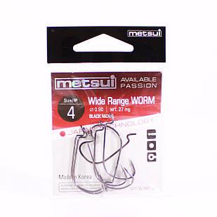Крючок METSUI Wide Range Worm №4 офсетный (6 шт.)