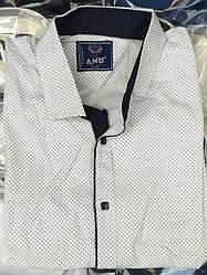 Молодёжная мужская  рубашка с коротким рукавом приталенная