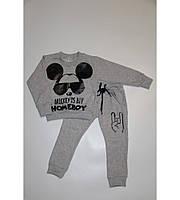 Детский серый костюм Микки BOY на рост 80-115 см