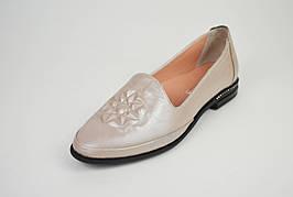 Туфли женские кожаные визон Evromoda 176