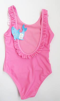 Сдельный детский купальник для девочки от 2 до 8 лет Розовый, фото 2