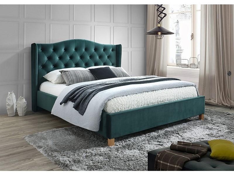 Кровать Aspen 160 Signal вельвет зеленый