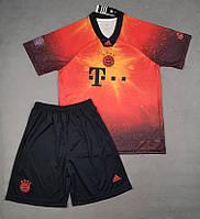Детская футбольная форма Бавария сезон 2018-2019 EA Sports оранжевая