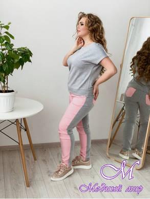 Женский батальный костюм футболка + брюки (р. 48-90) арт. Драйв, фото 2