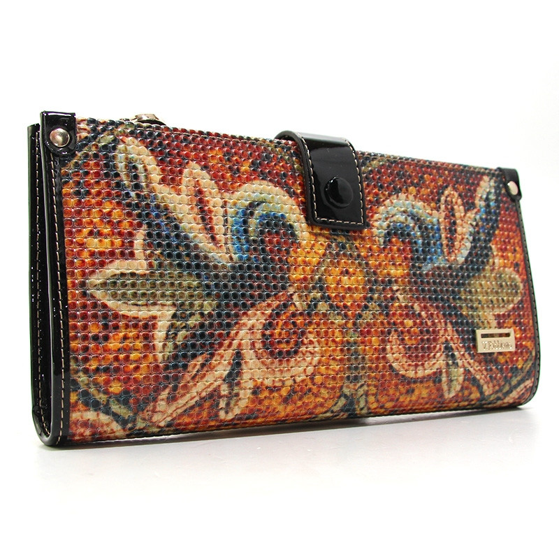 Кошелек кожаный женский цветной Velina Fabbiano 1051-69131-1