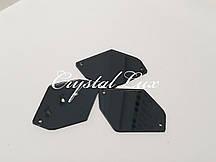 Зеркальные пришивные стразы A6 25*35 Black Diamond