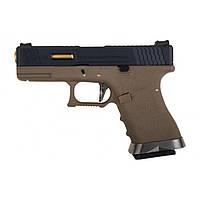 Пистолет страйкбольный WE Glock 19 Force pistol T6 GBB