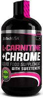 BioTech L-Carnitine + Chrome 500 мл. Л-Карнитин,жиросжигатель.