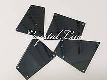 Зеркальные пришивные стразы B1 28*30 Black Diamond