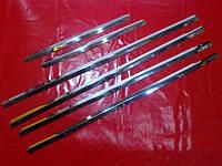 Хромированныемолдинги на стекла для MitsubishiOutlander 1, Митсубиси Аутлендер 1