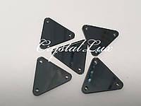 Зеркальные пришивные стразы A11 20*20 Black Diamond