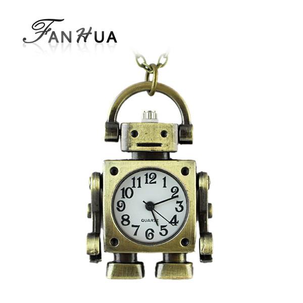 Женские часы подвеска Милый Роботенок