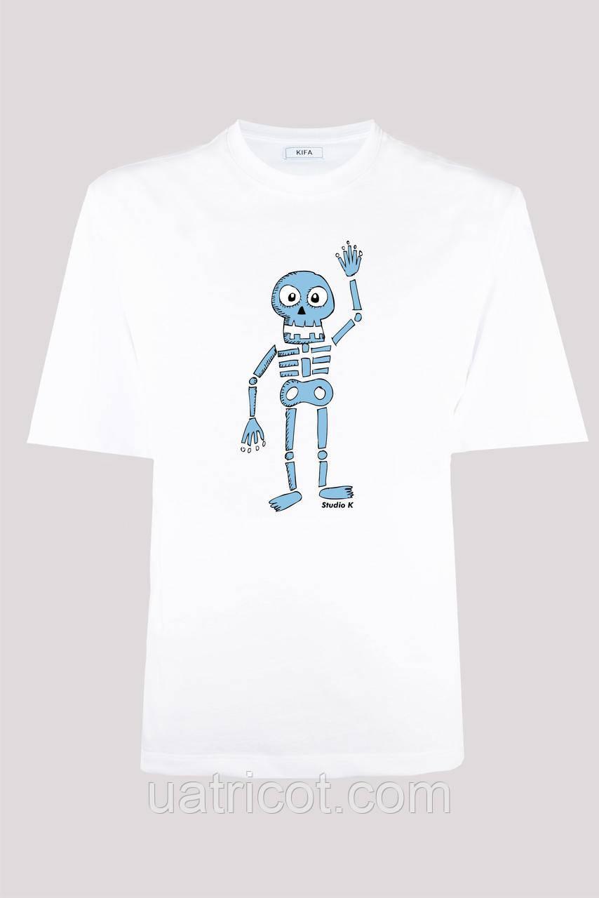 Футболка мужская KIFA ФМХ-019/15 skelet HI белая
