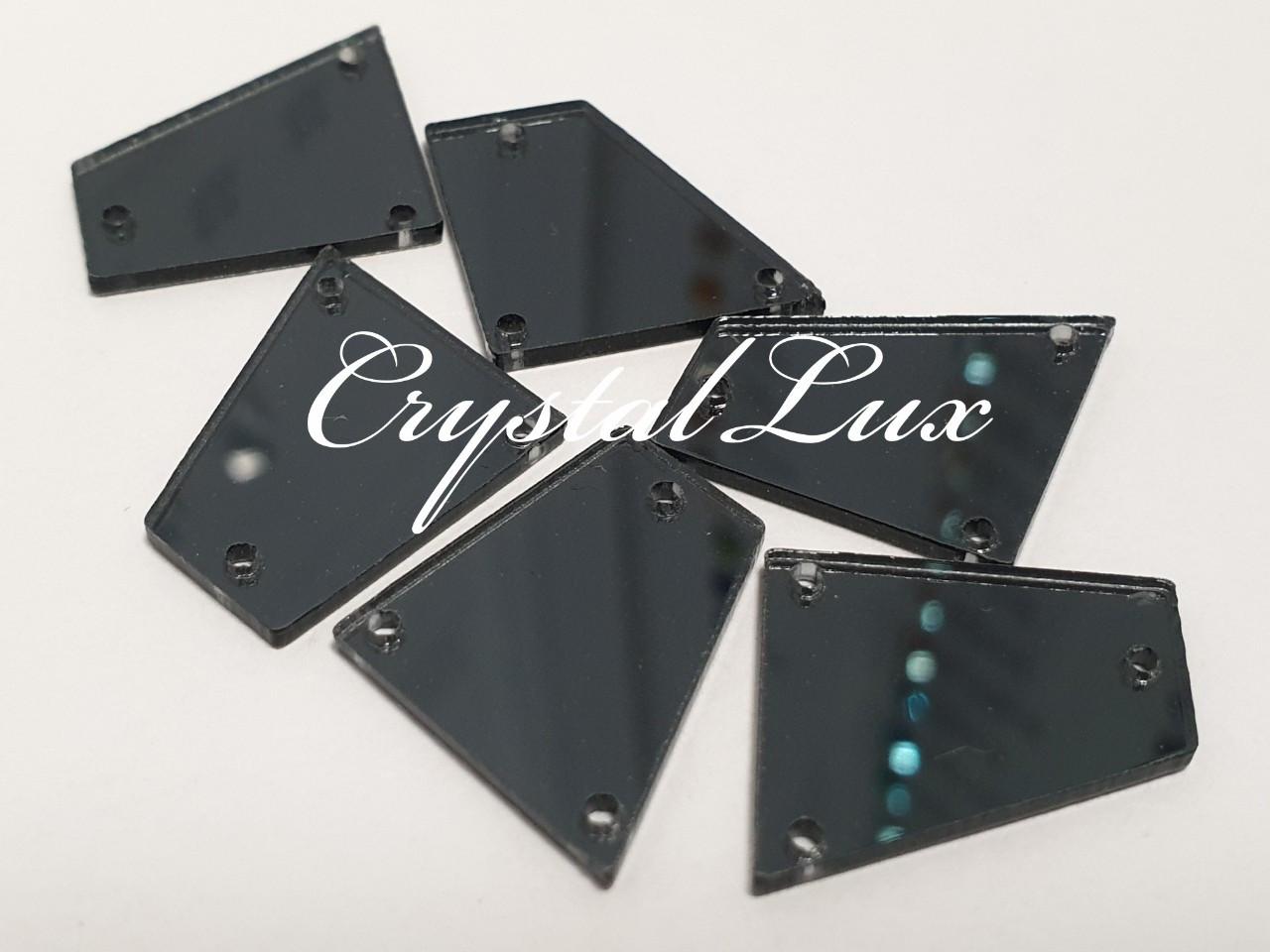 Зеркальные пришивные стразы A24 18*19 Black Diamond
