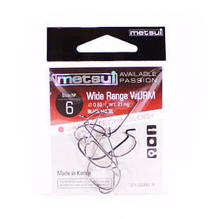 Крючок METSUI Wide Range Worm №6 офсетный (6 шт.)