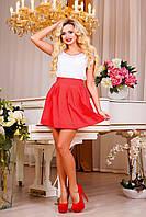 Модная молодежная пышная юбка,коралл, фото 1