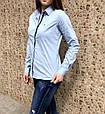 Женская рубашка Tommy Hilfiger классическая голубая XXL, фото 4