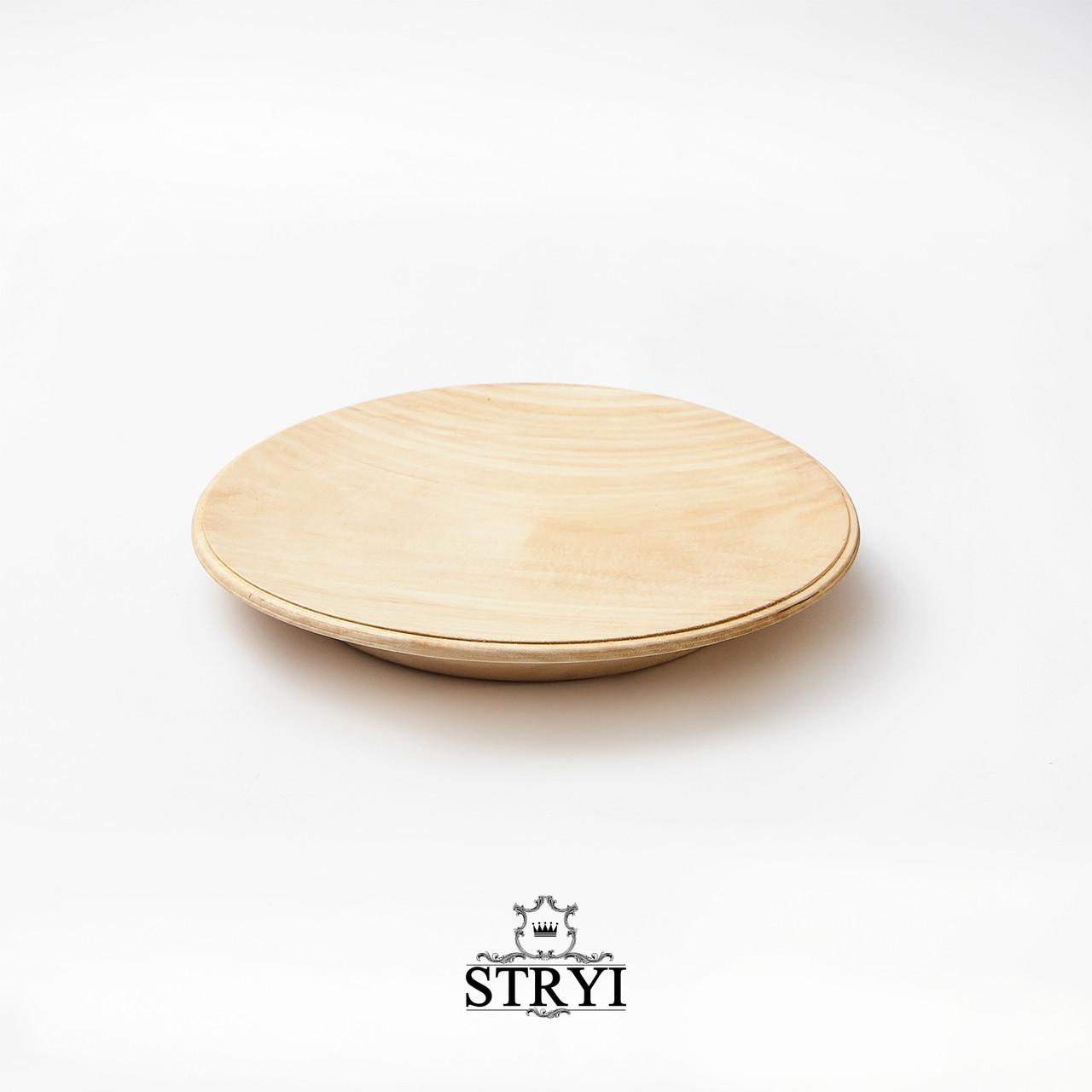 Тарелка, липовая заготовка для резьбы, 170мм