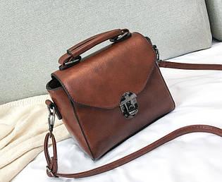 Шкіряна жіноча сумка на плече Brook