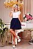 Модная молодежная пышная юбка,темно-синий