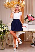 Модная молодежная пышная юбка,темно-синий, фото 1
