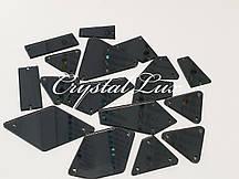 Зеркальные пришивные стразы Микс размеров 30шт  Black Diamond