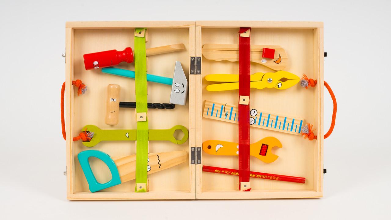 Деревянная игрушка - набор инструментов (10 предметов)