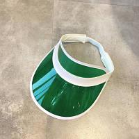 Женский летний пластиковый козырек зеленый