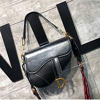 Женская сумка в стиле Диор черная