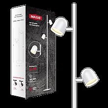 Спотовый светодиодный светильник (торшер) MAXUS MSL-01F 2x4W 4100K Белый